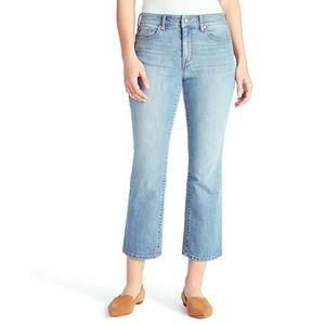 Chaps jeans mid rise crop kick size 6